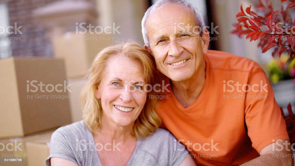 Portrait of Senior Couple stock photo