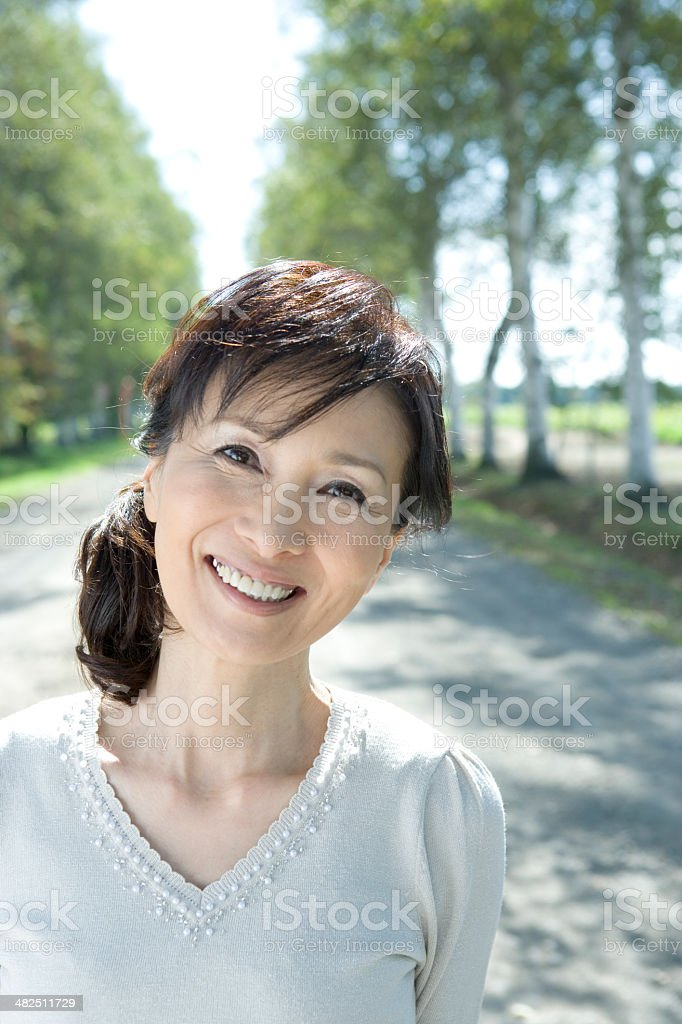 Portrait of senior female stock photo