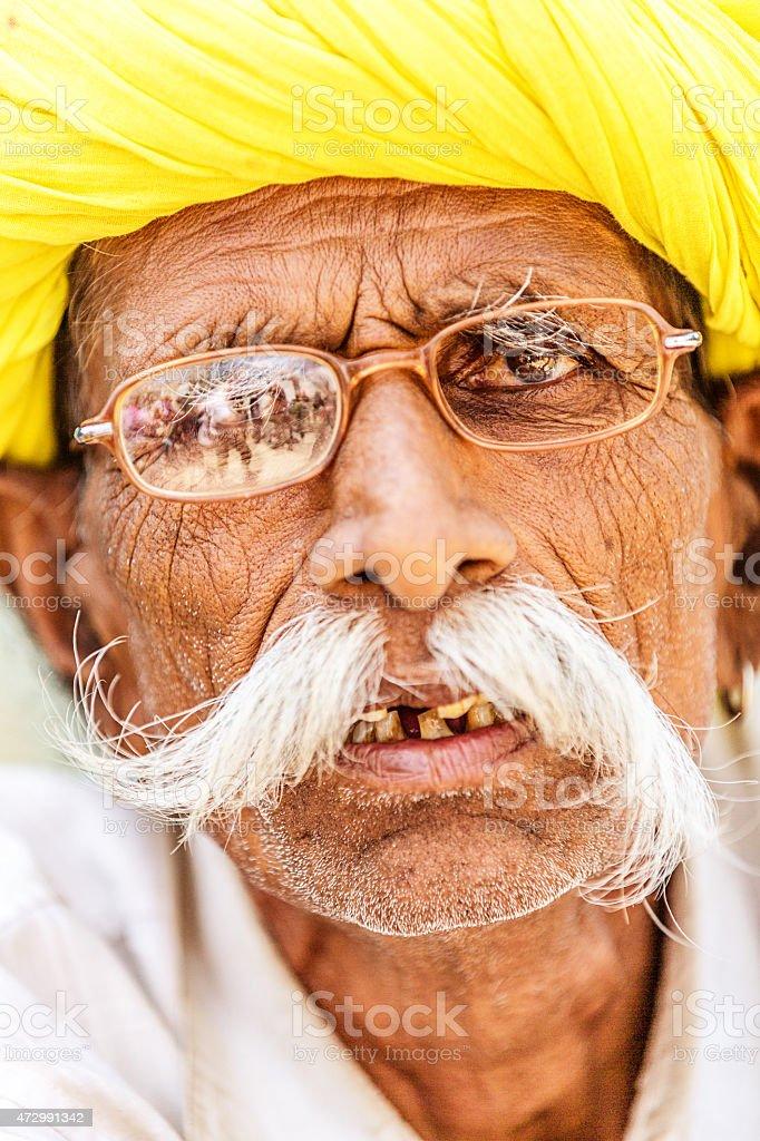 Portrait of Senior Indian Man stock photo