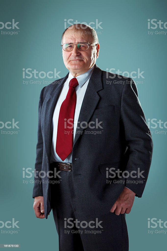 Portrait of Senior man in a suit royalty-free stock photo