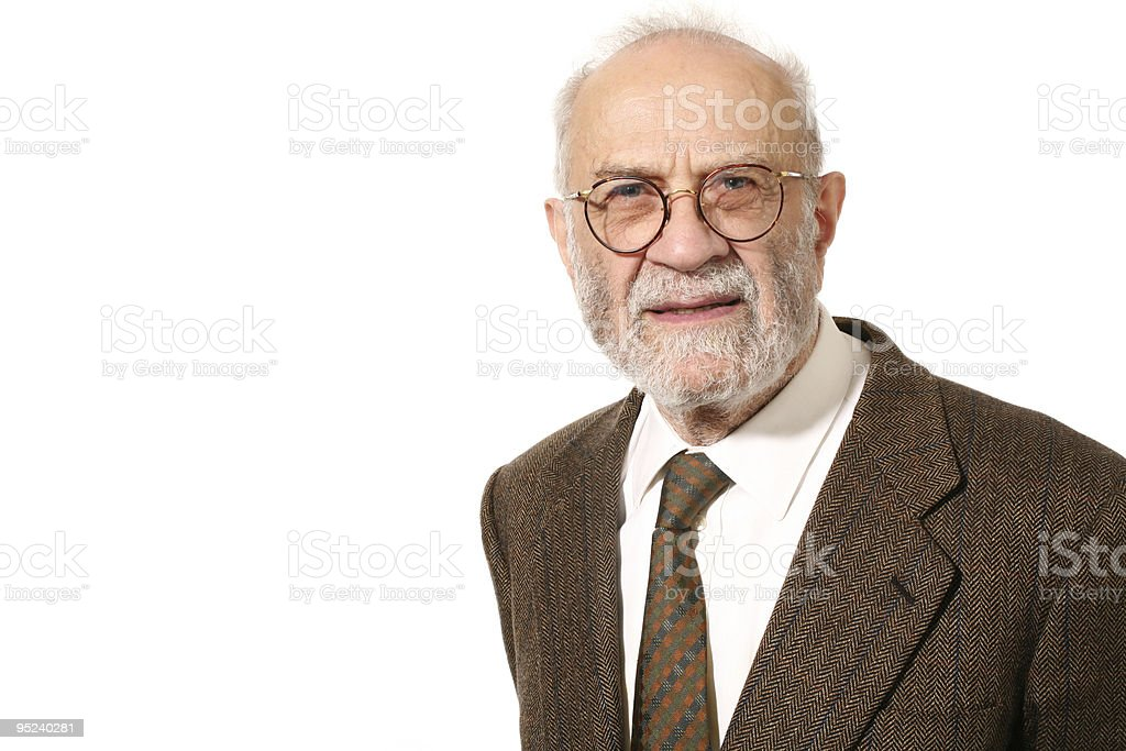 portrait of senior man royalty-free stock photo