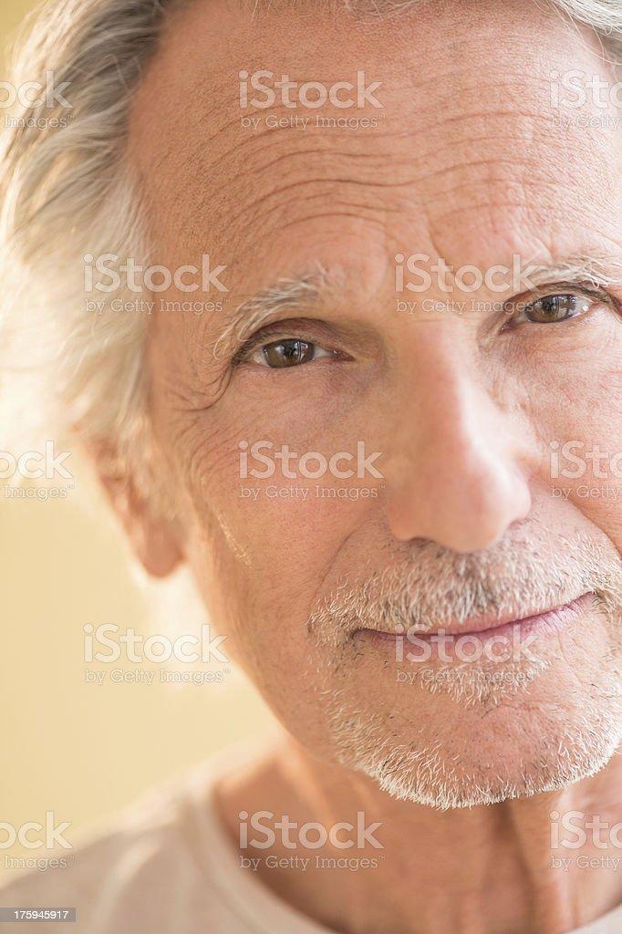 Portrait Of Senior Man Smiling royalty-free stock photo