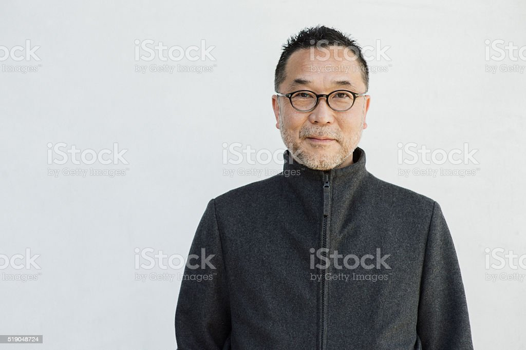 Portrait of senior men. stock photo