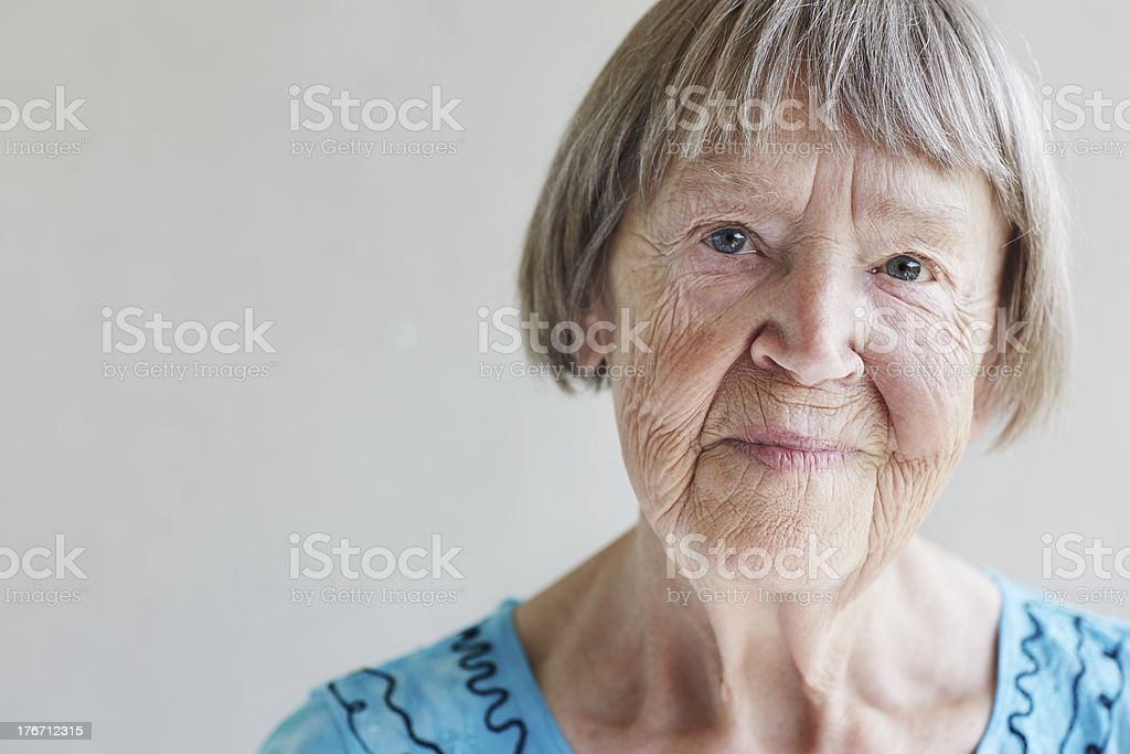 Portrait of senior woman, close up royalty-free stock photo
