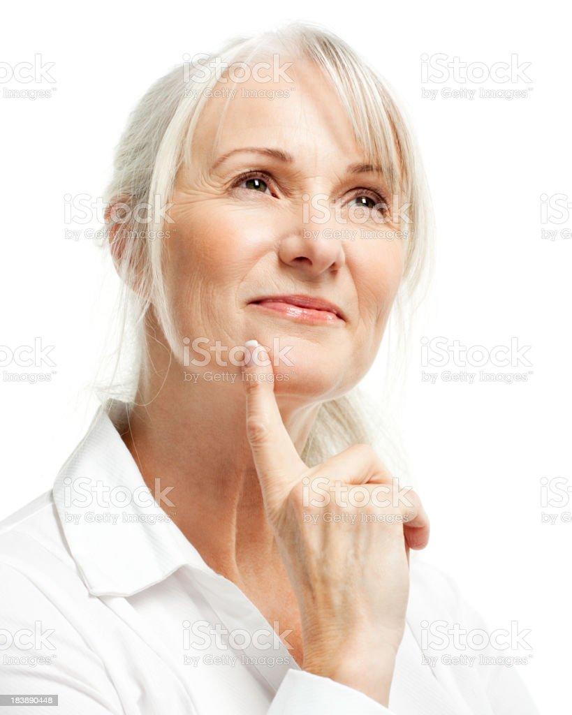 Portrait of Senior Woman - Isolated royalty-free stock photo