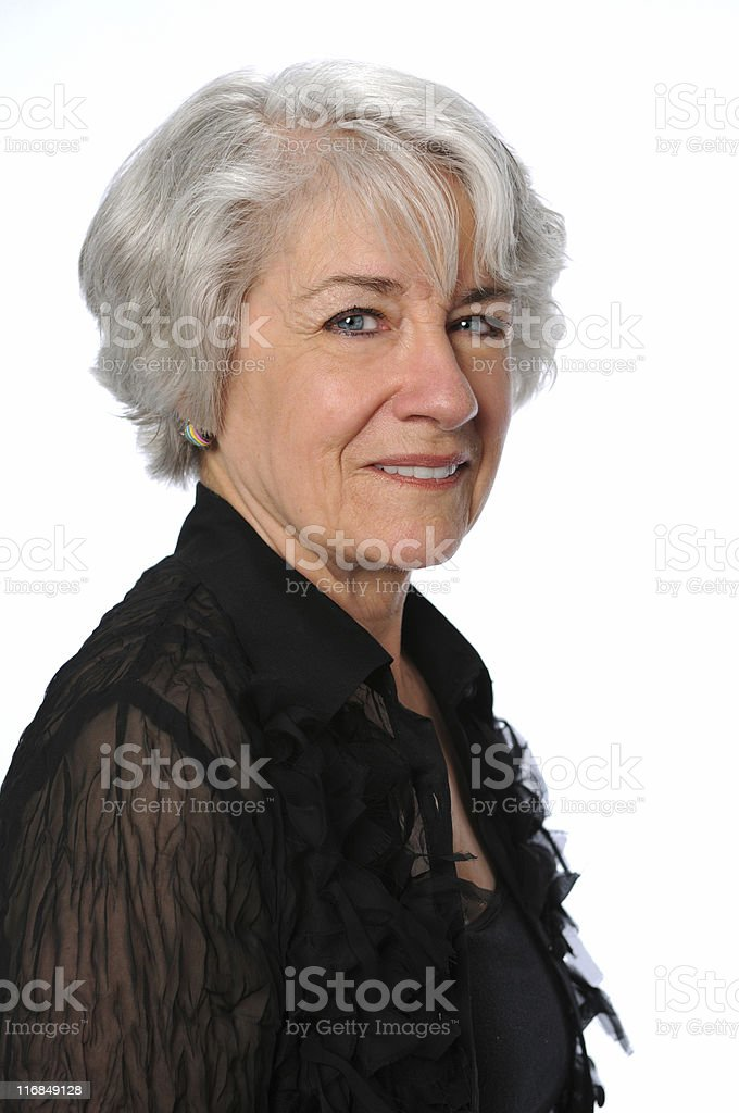 Portrait of Senior Woman royalty-free stock photo