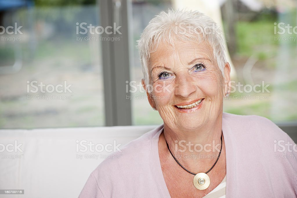 Portrait of senior woman royalty-free stock photo
