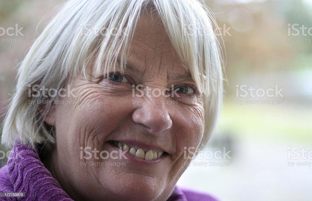 Portrait of Senior Woman Smiling stock photo