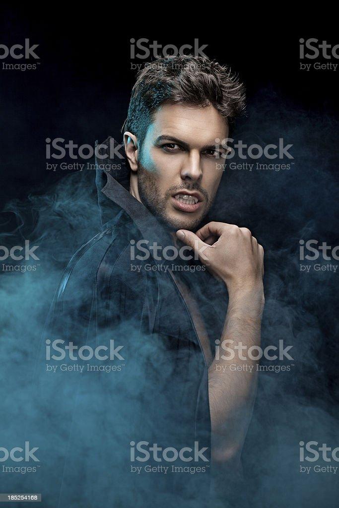 portrait of sensual vampire royalty-free stock photo