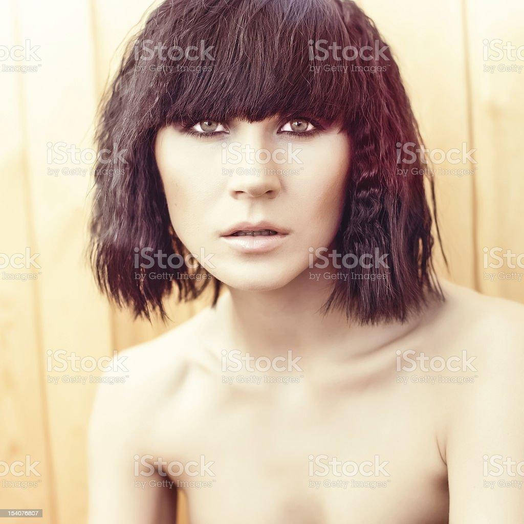 Portrait of sensual woman model royalty-free stock photo