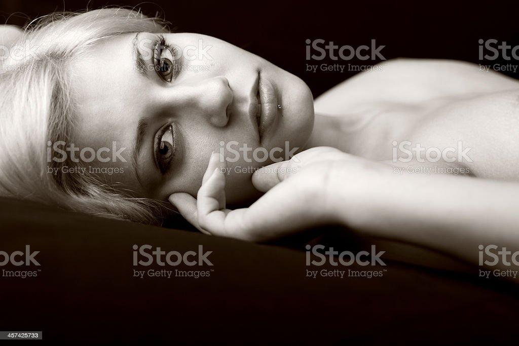 Portrait Of Sensual Woman royalty-free stock photo