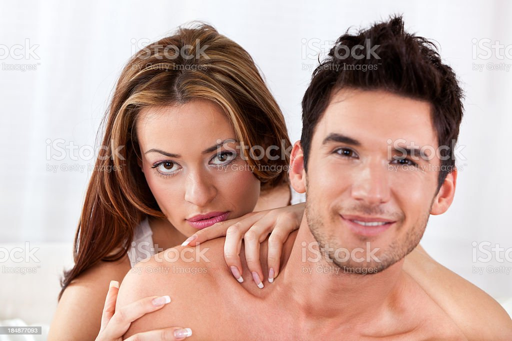 Portrait of sensual young couple royalty-free stock photo