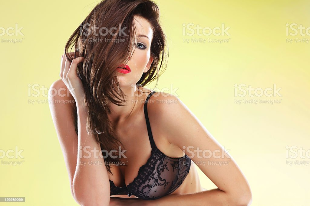 Portrait of sensual young woman royalty-free stock photo