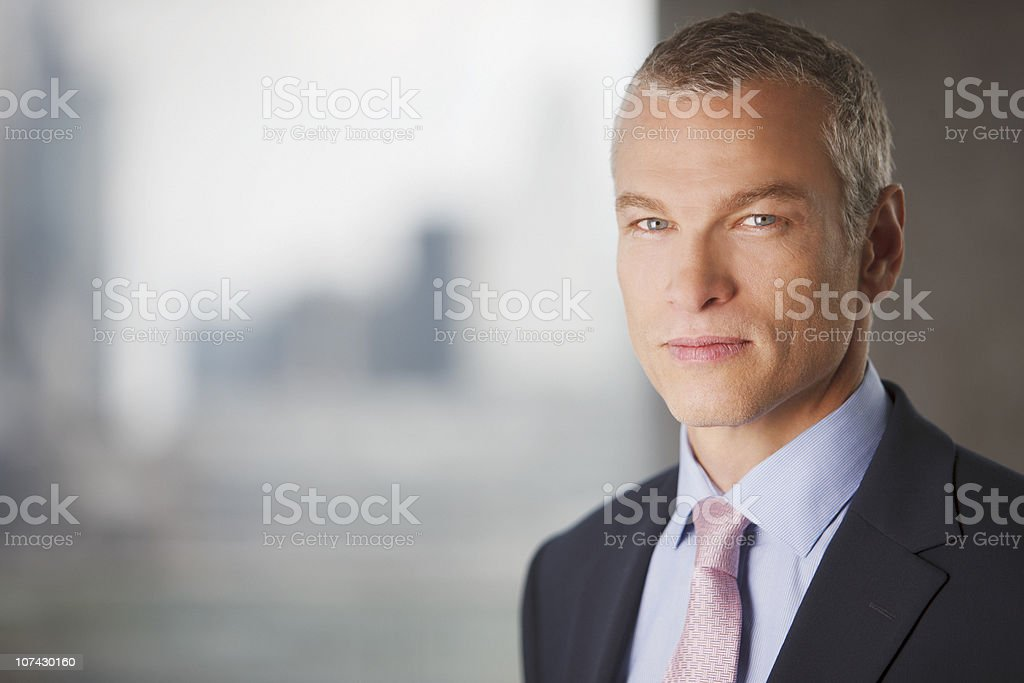 Portrait of serious businessman royalty-free stock photo
