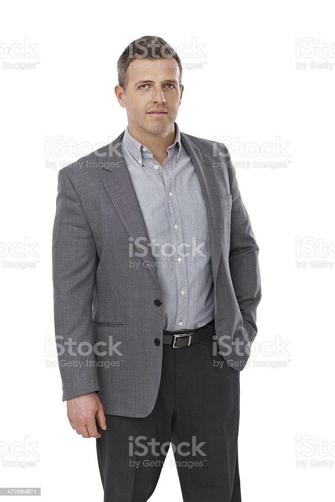Portrait of serious businessman stock photo