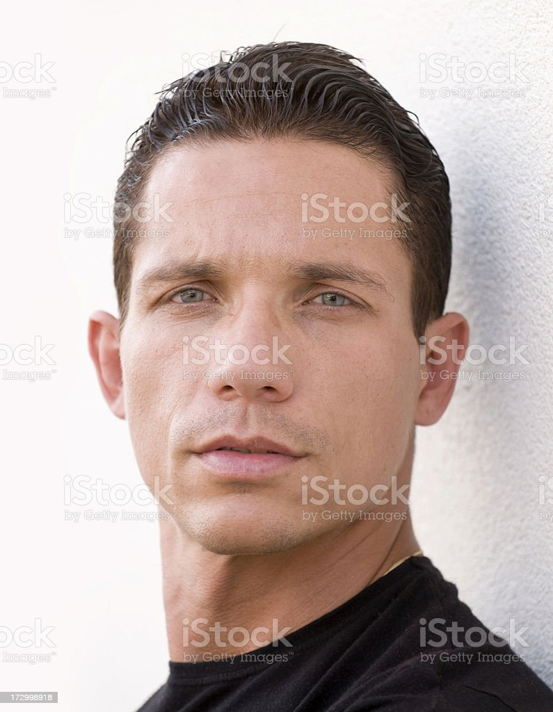 Portrait of serious looking man staring at the camera. royalty-free stock photo