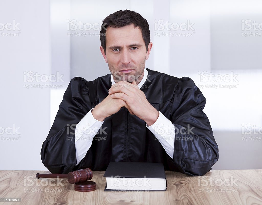 Portrait Of Serious Male Judge royalty-free stock photo