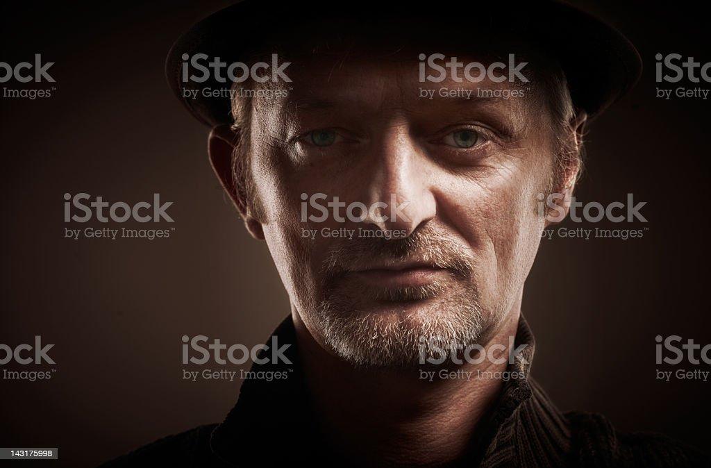 portrait of serious man royalty-free stock photo