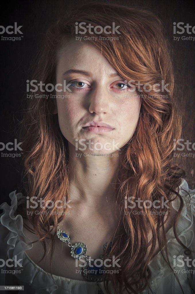 Portrait of Serious Teenage Girl stock photo