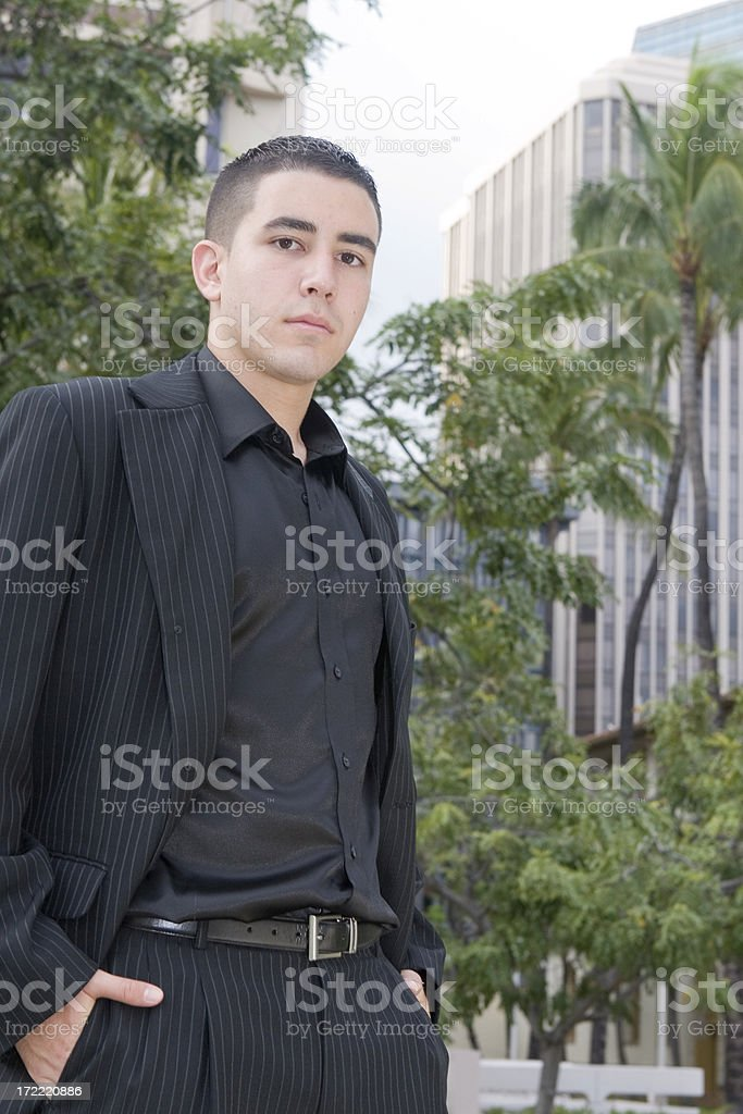 Portrait of serious young businessman royalty-free stock photo