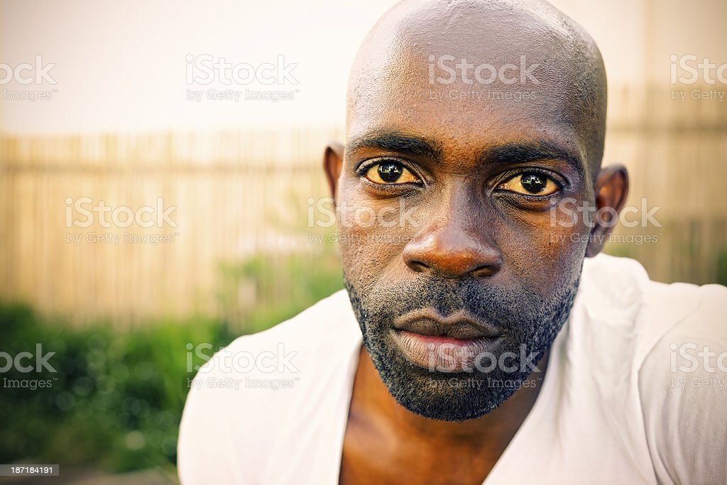Portrait of Serious Young Man stock photo