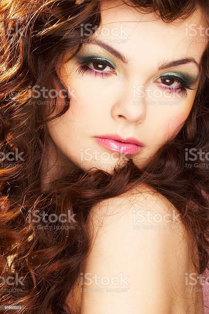 Portrait of sexy woman royalty-free stock photo