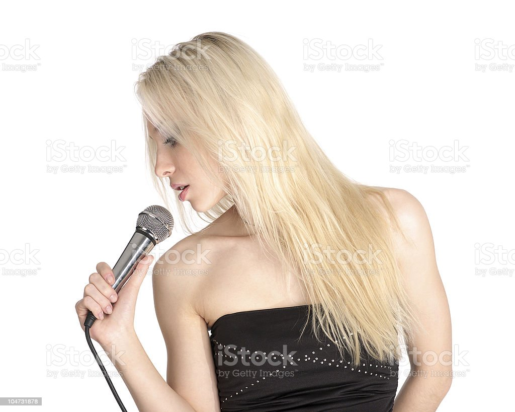 Portrait of singer female royalty-free stock photo
