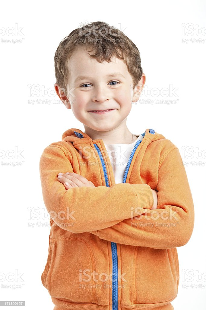 portrait of small boy royalty-free stock photo