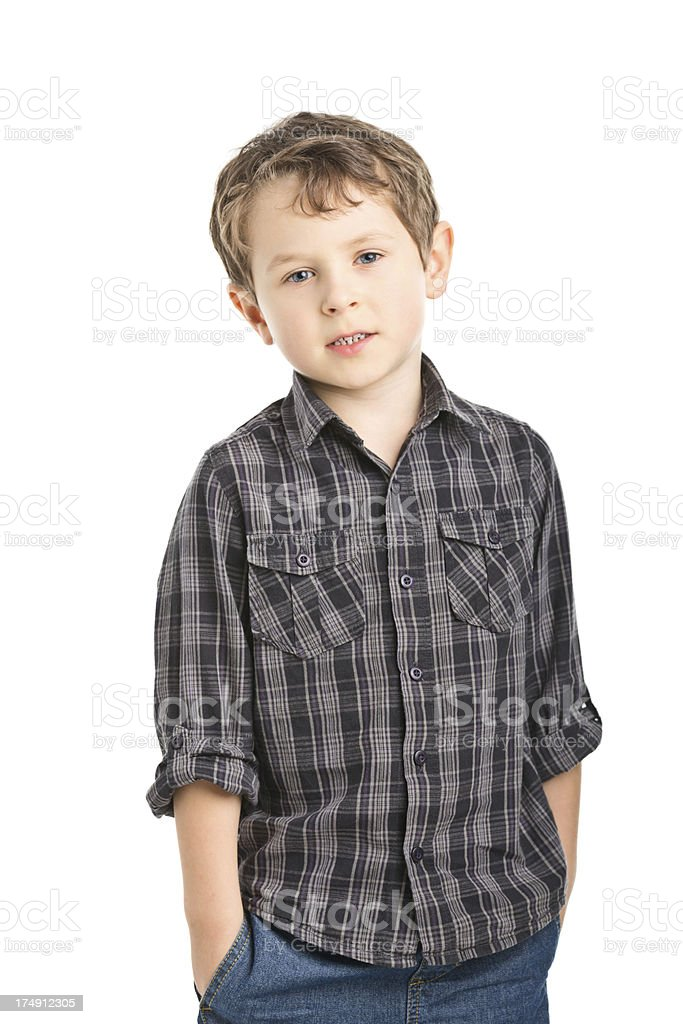 portrait of small boy talking royalty-free stock photo