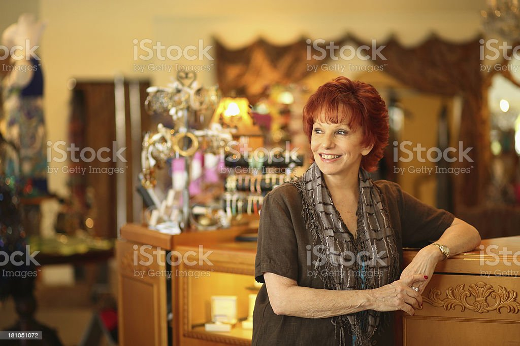 Portrait of Small Business Owner stock photo