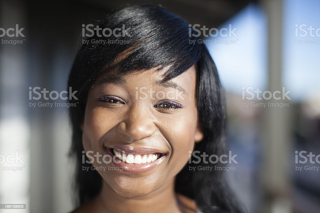 Portrait of smiley african businesswoman. royalty-free stock photo