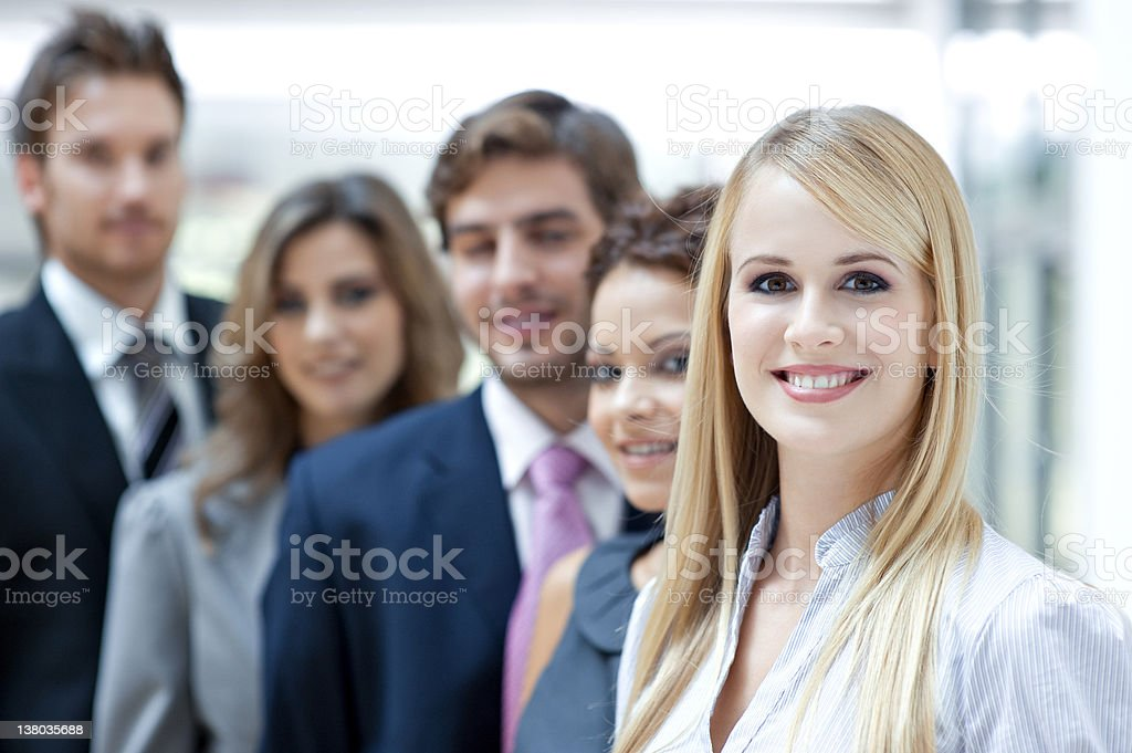 Portrait of smiling business colleagues royalty-free stock photo