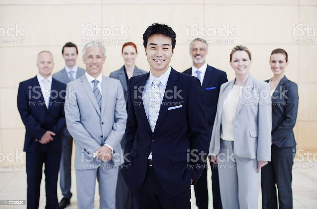 Portrait of smiling business people royalty-free stock photo