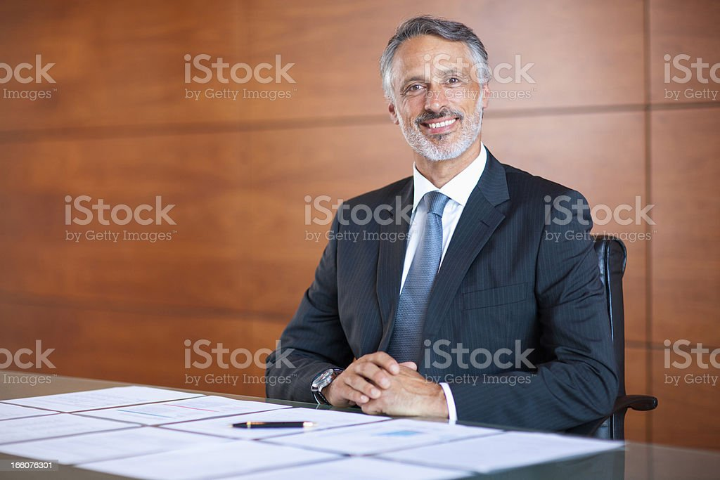 Portrait of  smiling businessman royalty-free stock photo