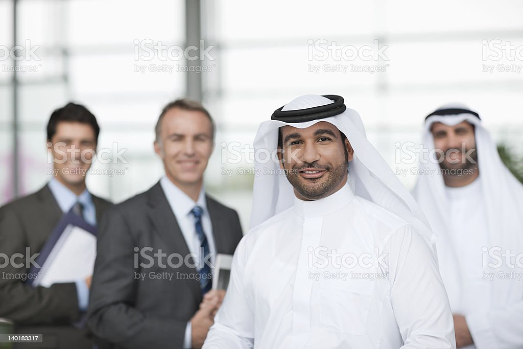 Portrait of smiling businessmen royalty-free stock photo