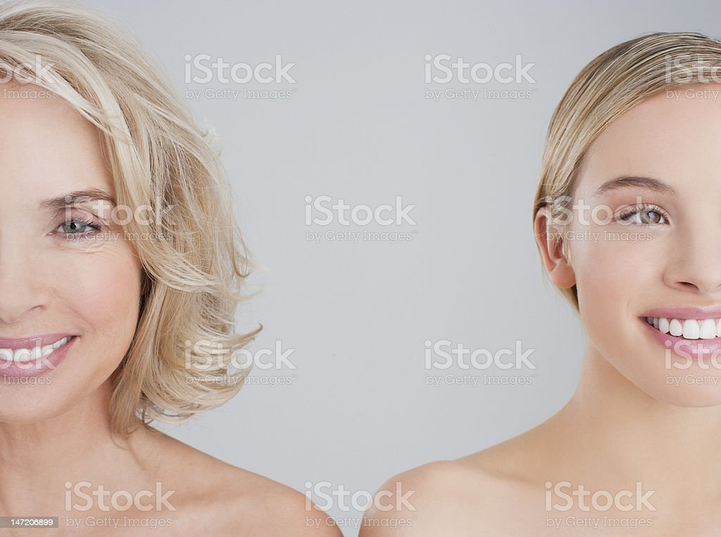 Portrait of smiling mother and daughter royalty-free stock photo
