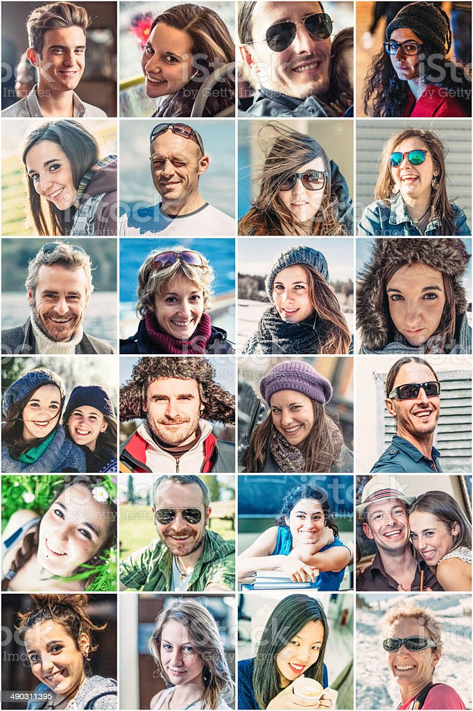 Portrait of smiling people royalty-free stock photo