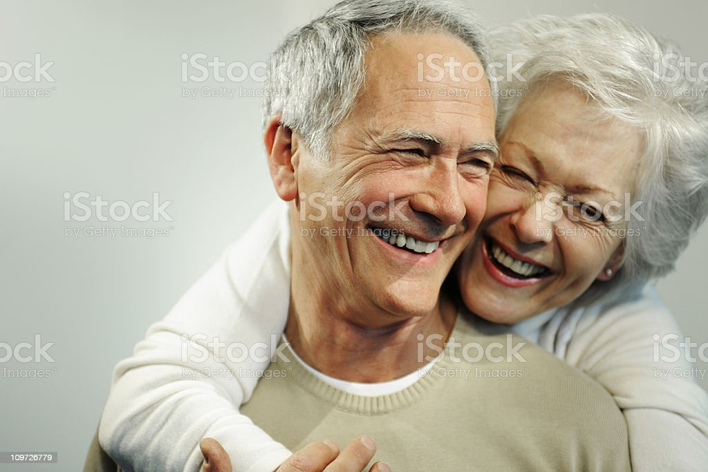 Portrait of Smiling Senior Couple royalty-free stock photo