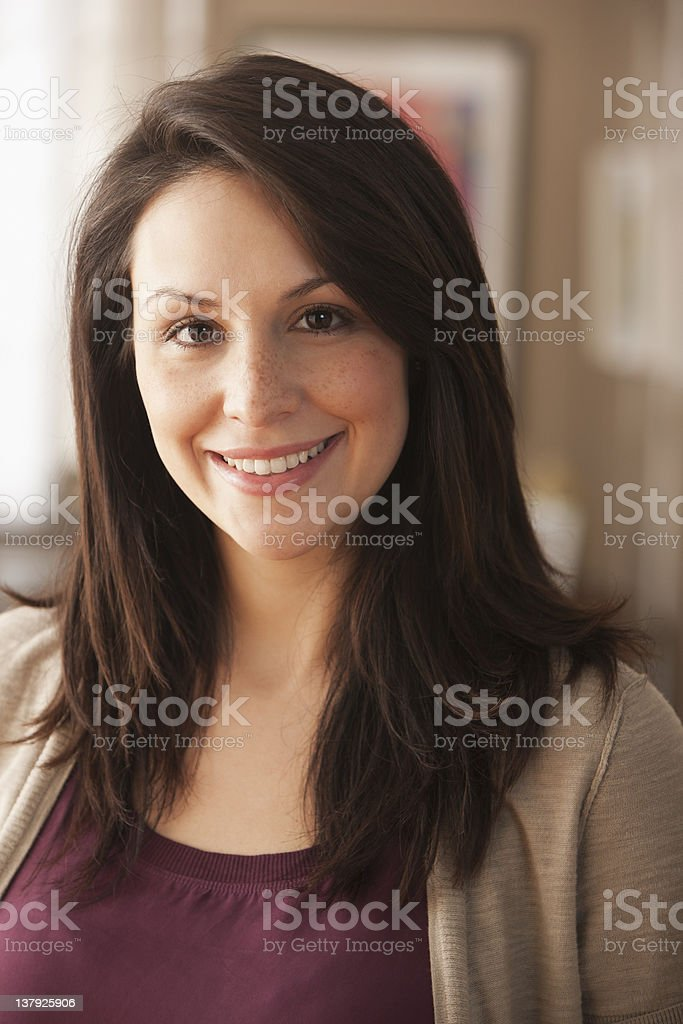 Portrait of smiling woman royalty-free stock photo