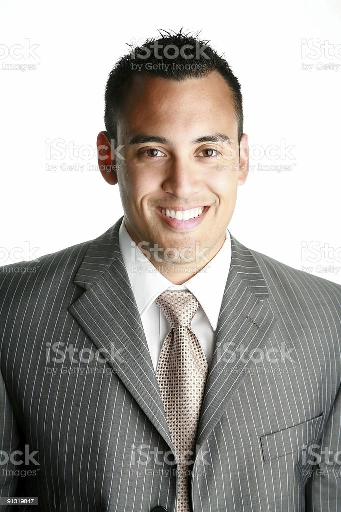 Portrait of smiling young businessman royalty-free stock photo