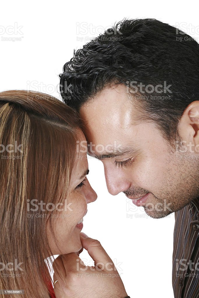 portrait of smiling young couple in love royalty-free stock photo