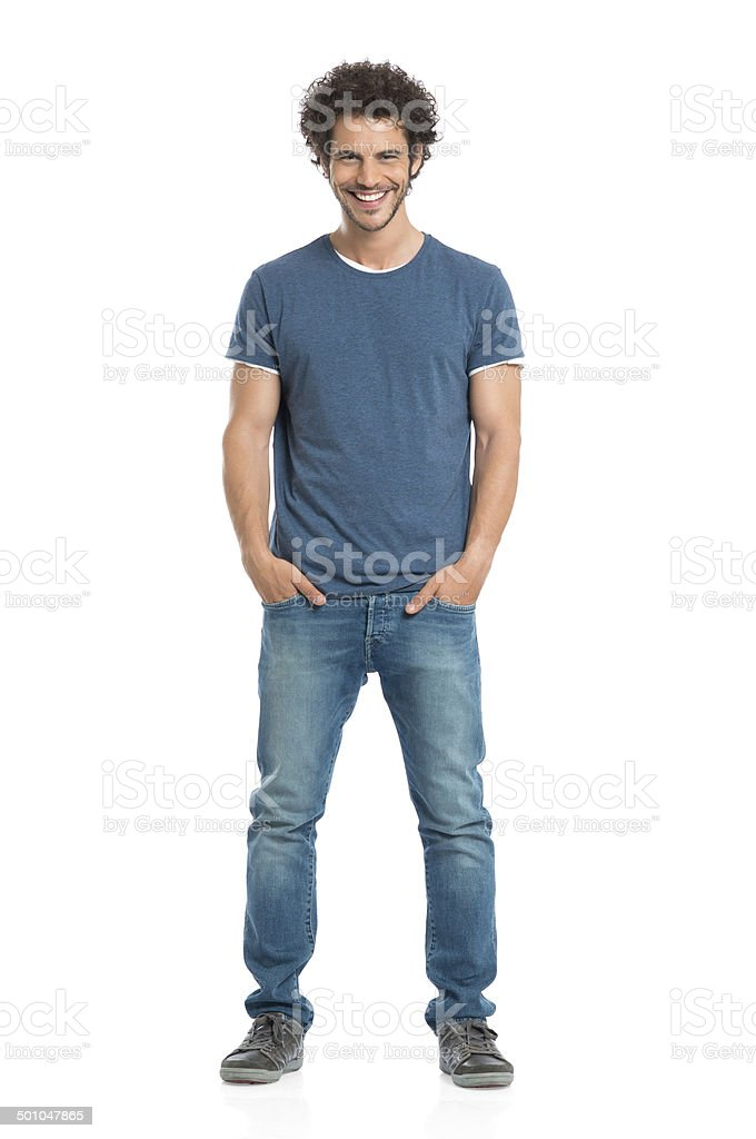 Portrait Of Smiling Young Man stock photo