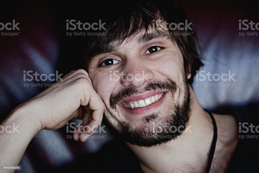 Portrait of Smiling Young Man royalty-free stock photo