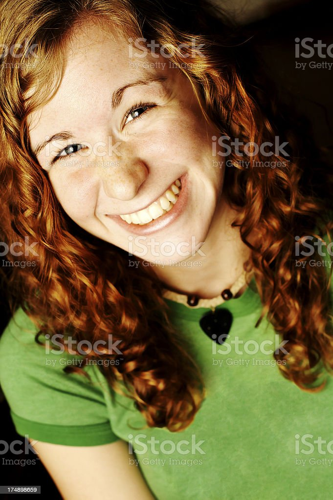 Portrait of Smiling Young Woman royalty-free stock photo