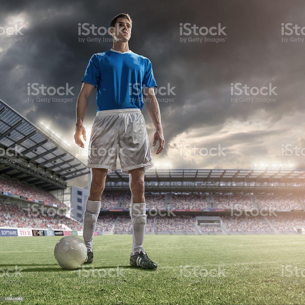 Portrait of Soccer Hero royalty-free stock photo