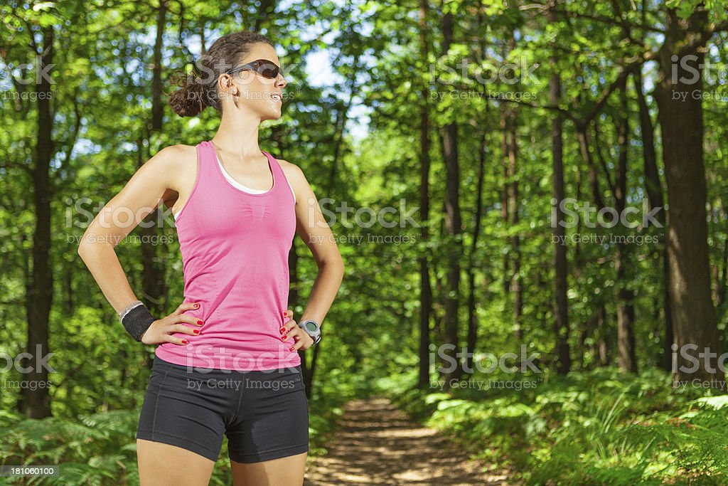 portrait of sports woman stock photo