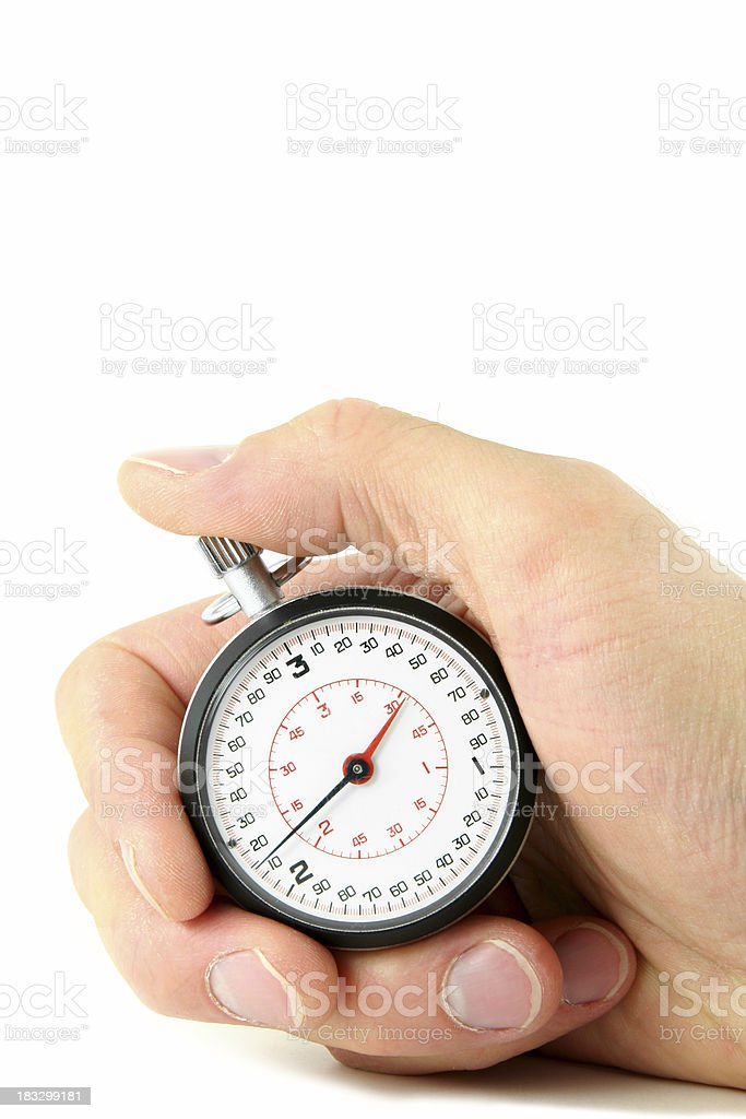 Portrait of Stopwatch in Hand royalty-free stock photo