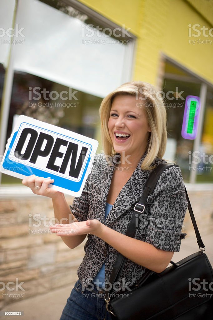 Portrait of store owner royalty-free stock photo