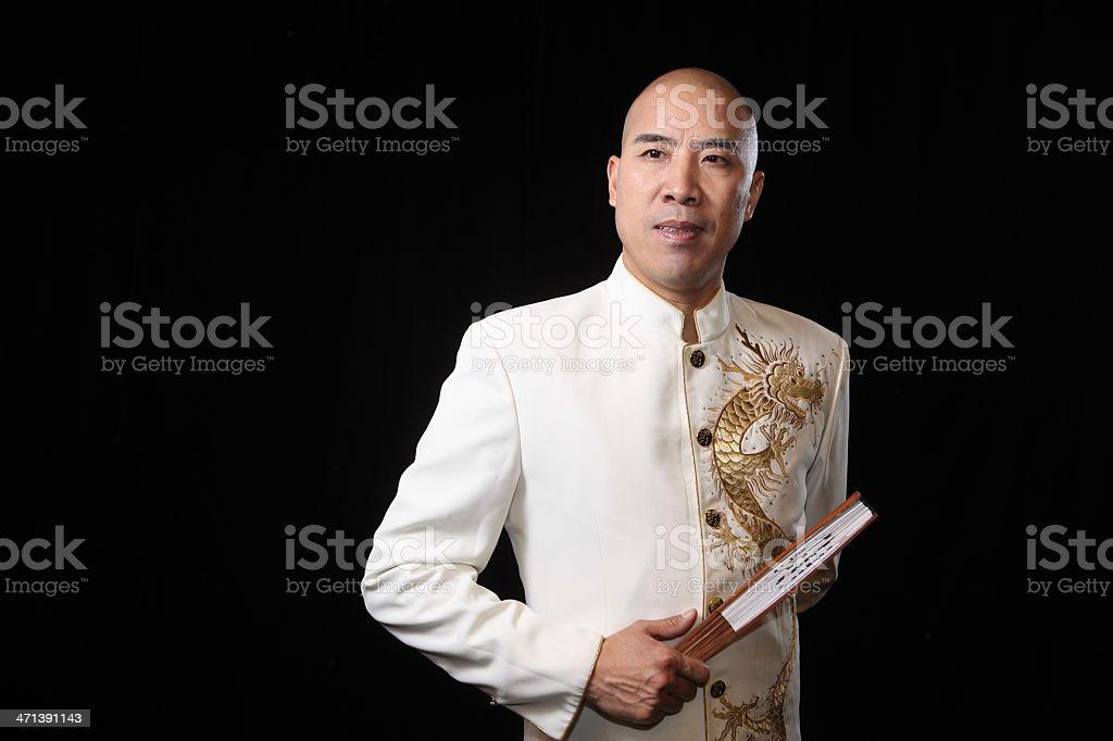 portrait of storytelling actor stock photo
