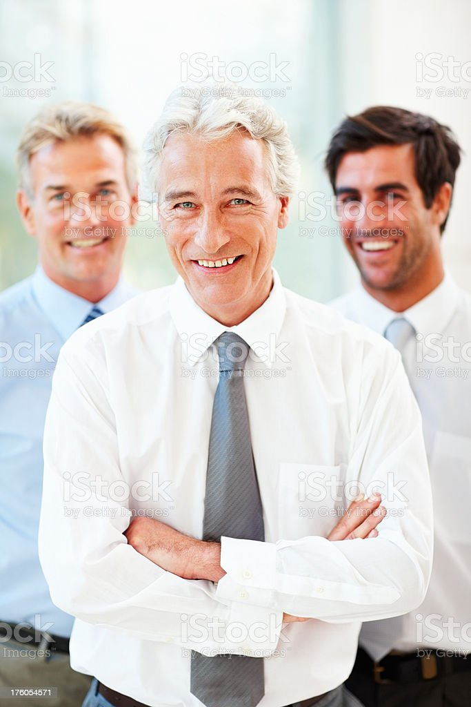 Portrait of successful business colleagues royalty-free stock photo